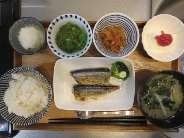 焼魚(さんま)メインの献立(180119朝ごはん)