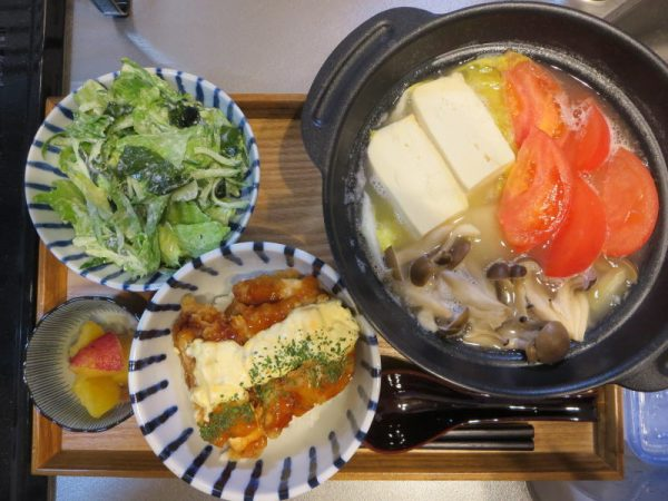チキン南蛮(お惣菜)メインの献立(180321夜ごはん)