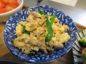 豆腐とニラの炒め物