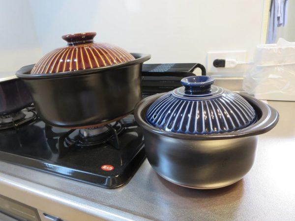 萬古焼 銀峯陶器 菊花 ごはん土鍋(2合炊き、5合炊き)