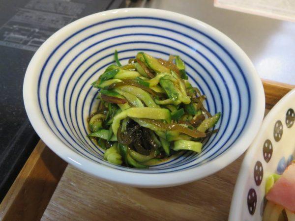 きゅうりの塩昆布和え(180406昼ごはん)
