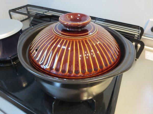 萬古焼 銀峯陶器 菊花 ごはん土鍋で炊飯