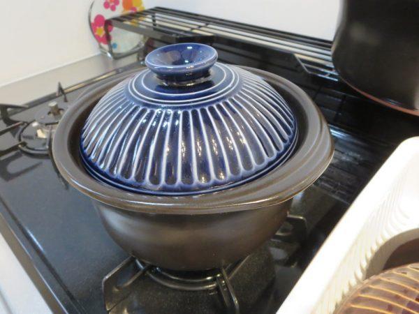萬古焼 銀峯陶器 菊花 ごはん土鍋(2合炊き)
