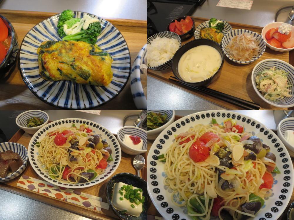 献立記録、2018年4月6日(朝昼)の食事