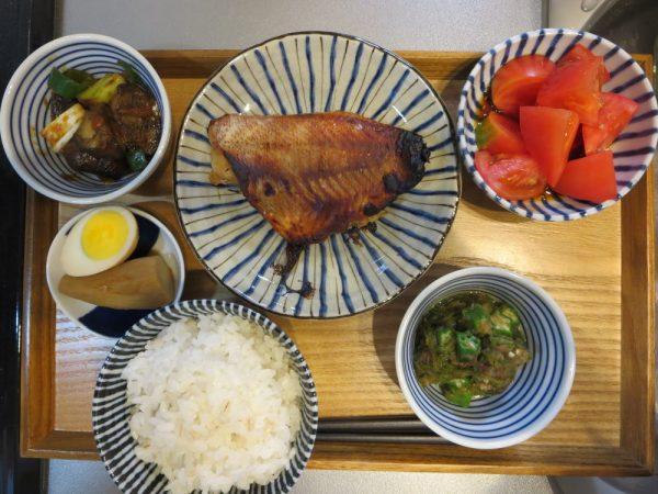 焼魚(赤魚)メインの献立(180411朝ごはん)