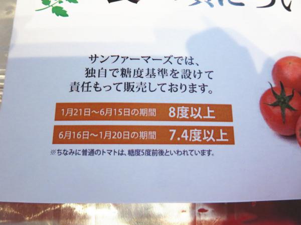 アメーラトマトの糖度