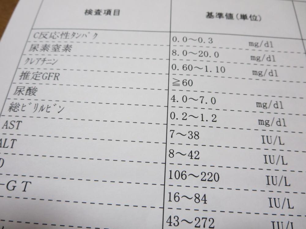血液検査結果
