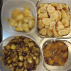 作り置き(菊芋の味噌漬け、菊芋の甘酢醤油漬け、菊芋煮、ナスの甘酢醤油漬け)