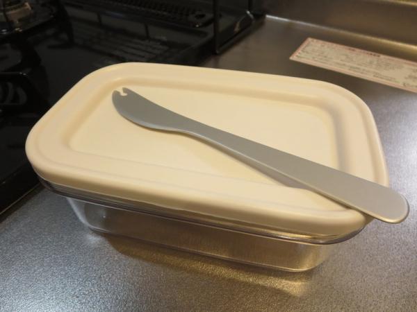 カットできちゃうバターケース、ピッキングバターナイフ