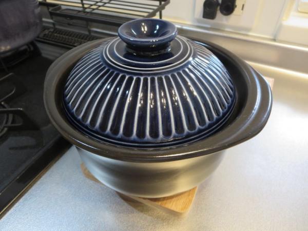新米を土鍋で炊く!