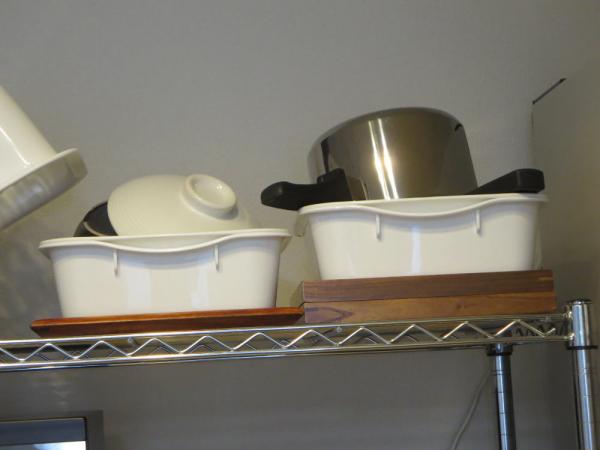 土鍋、圧力鍋を乾燥