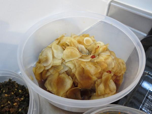 菊芋の甘酢醬油漬け