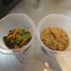 小松菜のナムル、えのき煮