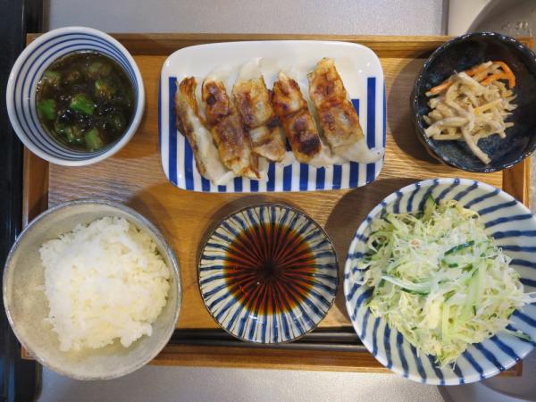タニタ食堂監修の焼餃子メインの献立