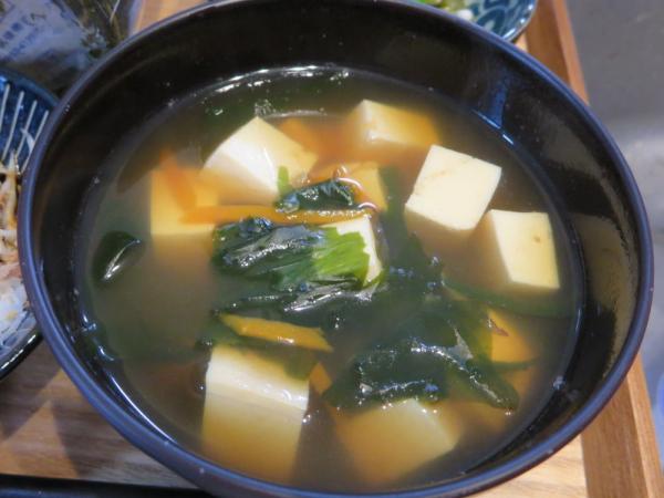 豆腐とわかめのお吸い物