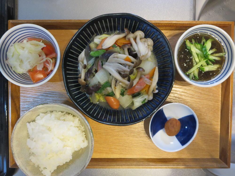 野菜の旨煮メインの献立