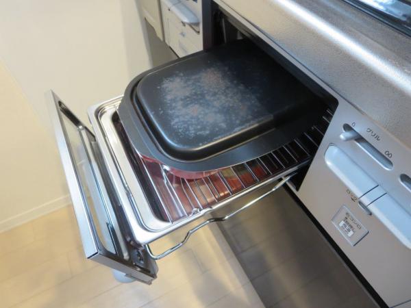照り焼きチキンをグリル名人(グリルパン)で焼く