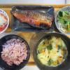 焼魚(さばのみりん干し)メインの献立