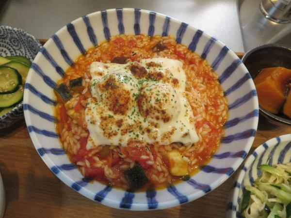 マンナンヒカリのトマト雑炊