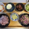 中華風肉団子とゆで卵の献立