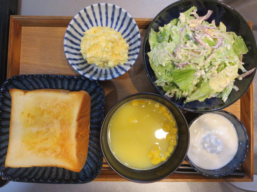 トースト&マヨたまの献立