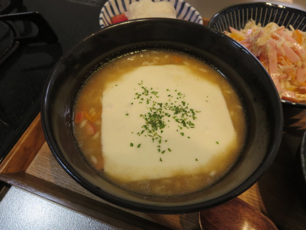 チーズカレーリゾット(マンナンヒカリ)