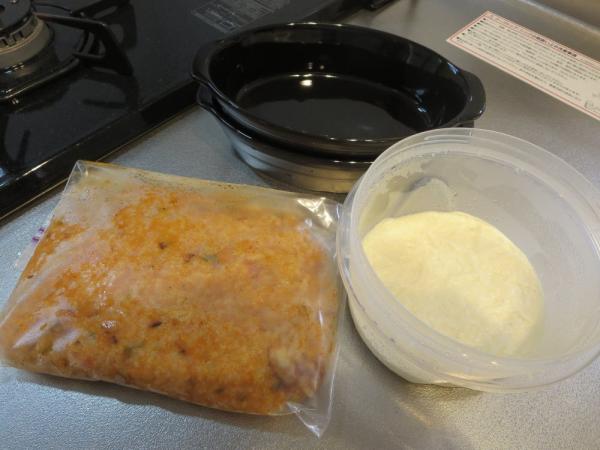 冷凍ストックの食材でドリアを作る