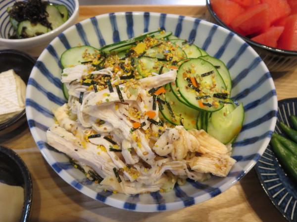 冷やしラーメン(インスタント麺)