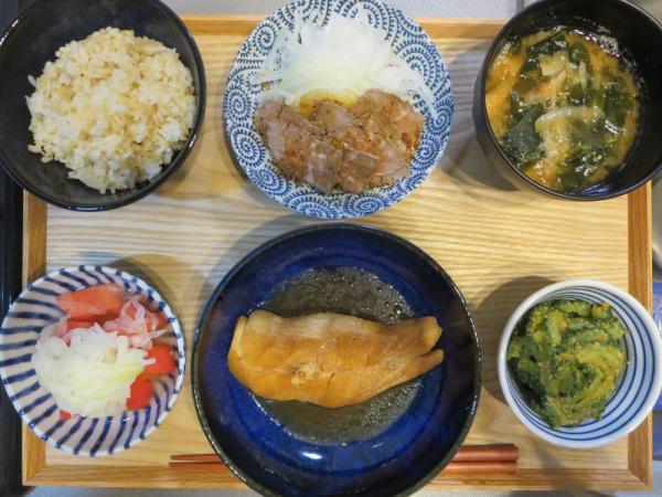 煮魚(カラスガレイ)の献立