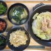 白菜とツナの蒸し鍋の献立