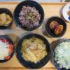 白菜とツナの蒸し焼きの献立
