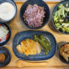 鶏むね肉の味噌マヨ焼きピーマン添えの献立