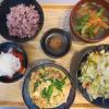 豆腐とニラと豚肉の炒め物の献立