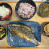 焼き魚(にしん三五八漬け)の献立