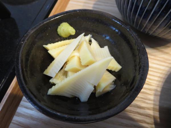 竹の子のわさび醤油