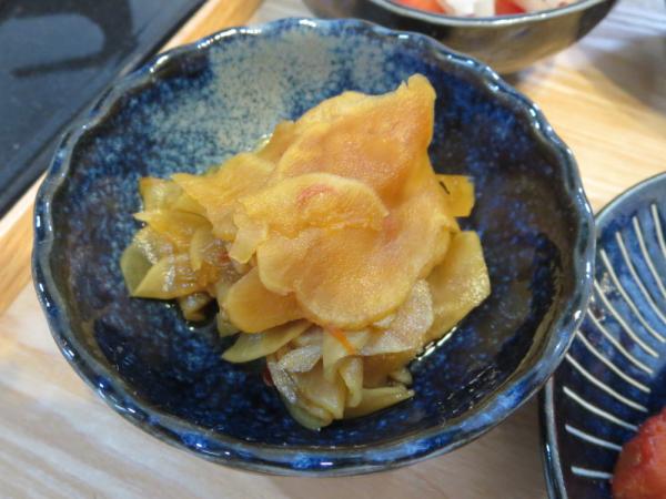 菊芋の甘酢醤油煮