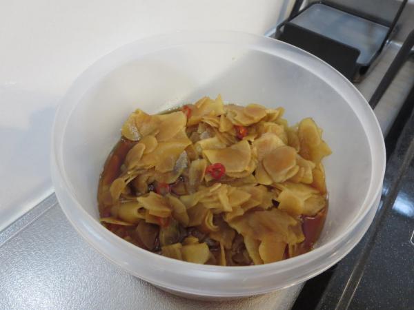 菊芋の甘酢醤油煮(作り置き)