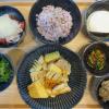 竹の子と鶏むね肉のホイル焼きの献立