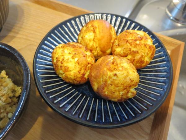 手作りカッテージチーズ入りコロコロたまご焼き
