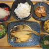 焼魚(えぼだいの干物)の献立