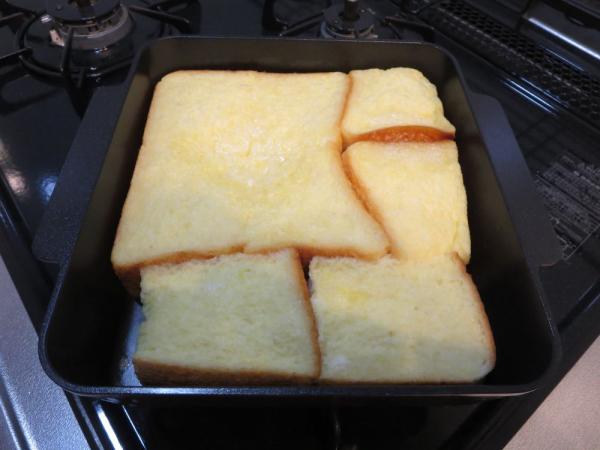 蓋をしてオーブントースターで15分焼く