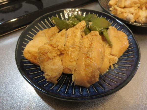 鶏むね肉の甘味噌中華味