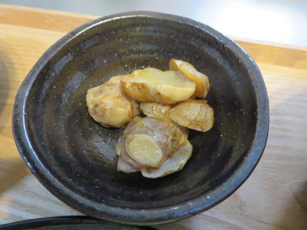 菊芋のバター醤油