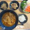 カレーうどん(麺半量)とごはんの献立