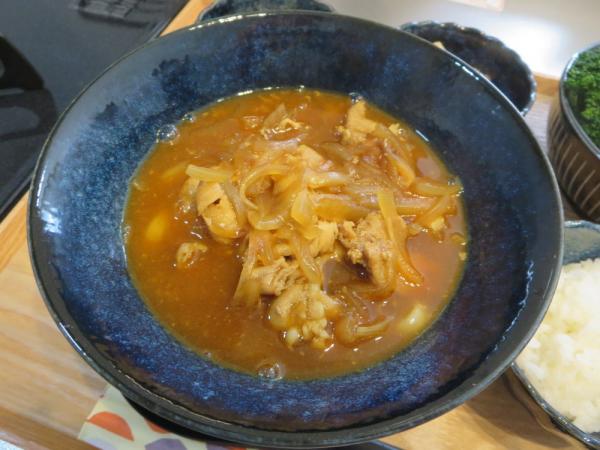 カレーうどん(麺半量)とごはん