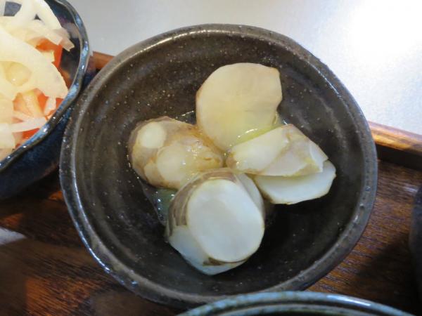 菊芋ガーリックバターソース