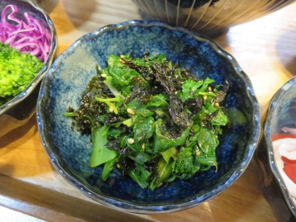 小松菜の韓国海苔ふりかけ和え