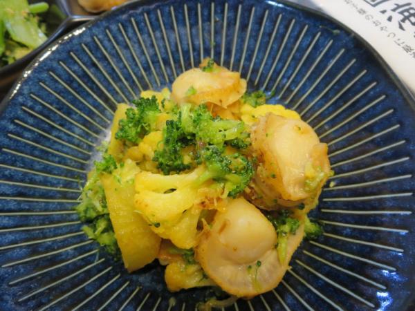 蒸しホタテと野菜のソテー
