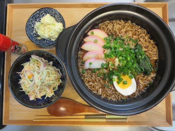 天ぷらそば(マルちゃん袋麺)の献立(年越しそば)