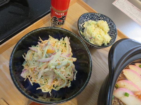 ポテトサラダとコールスローサラダ